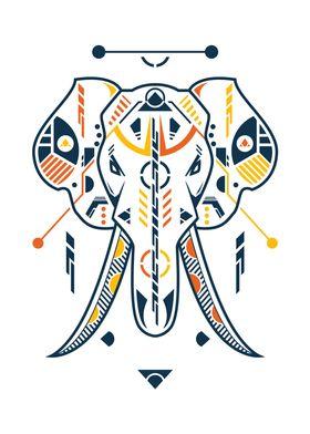 Unique Elephant Head
