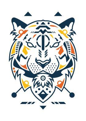 Unique Tiger Head