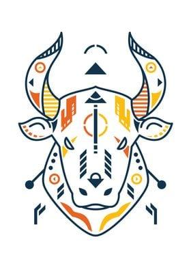 Unique Bull Head
