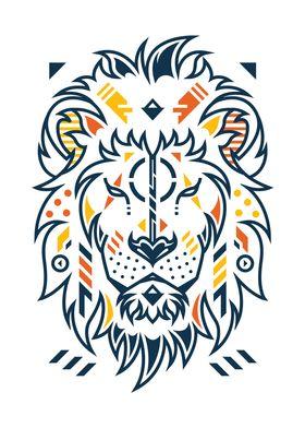 Unique Lion Head