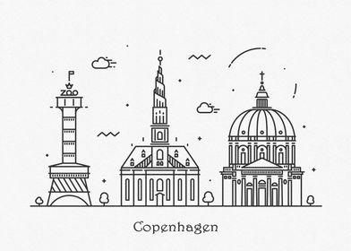 Copenhagen City Skyline