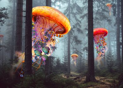 Electric Jellyfish Forest