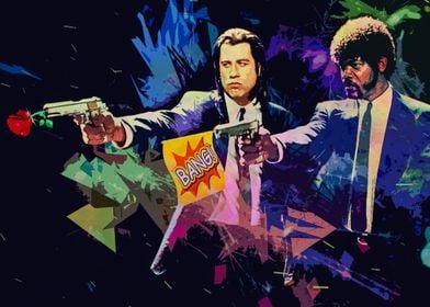 Pulp Fiction surreal color