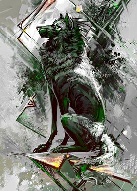 Confident wolf