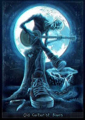 Old Man Guitarist Blues