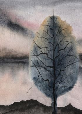 Watercolor Trees 06