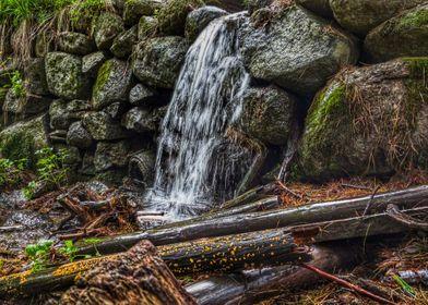 Mountain waterflow