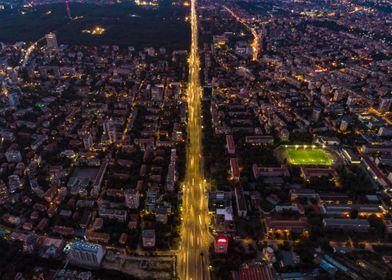 Night street in city