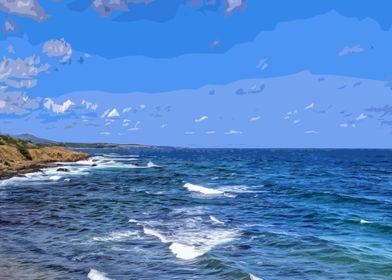 Sea landscape art