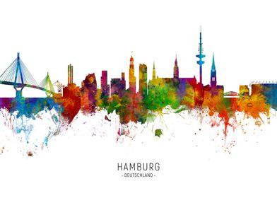 Hamburg Germany Skyline
