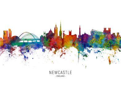 Newcastle England Skyline