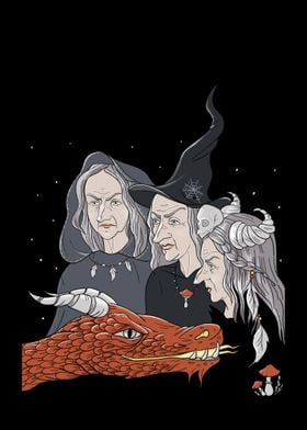 3 witches and a dragon