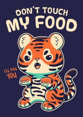 Cute Tiger Cub Cat Foodie