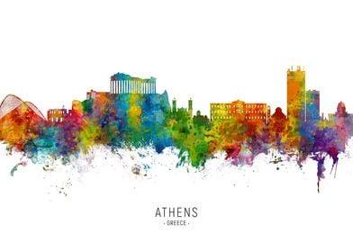Athens Greece Skyline