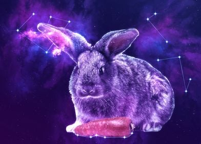 Galaxy Rabbit with Carrot
