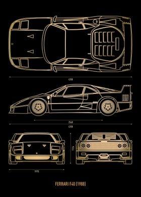 Ferrari F40 1988