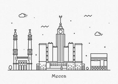 Mecca City Skyline
