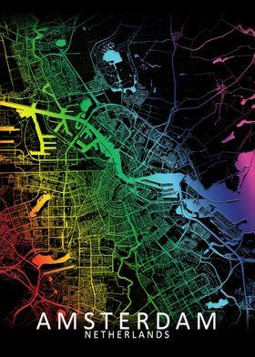 Amsterdam Rainbow City map