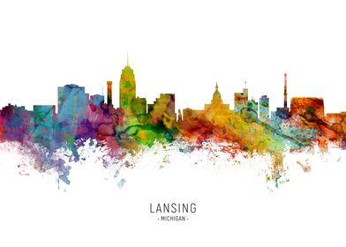 Lansing Michigan Skyline