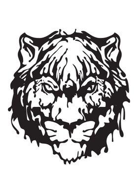 Gangster Tiger Ink blots