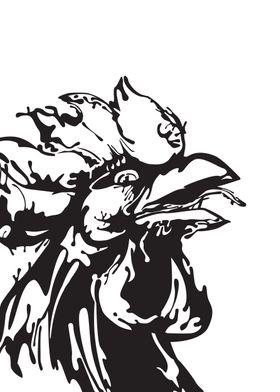 Gangster Rooster Ink blots