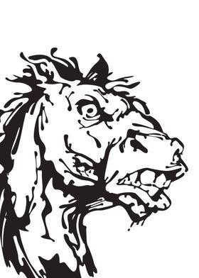 Gangster Horse Ink blots