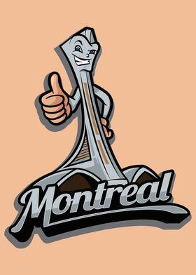 Montreal City Icon Badge