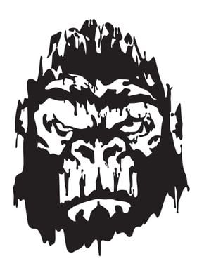 Ape Gangster Ink blots