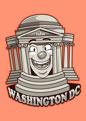 Washington City Icon Badge