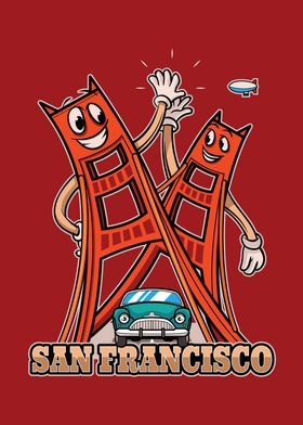 San Fran City Icon Badge