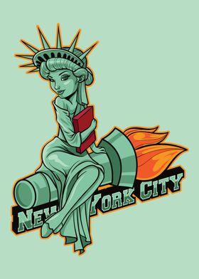 NYC City Icon Badge