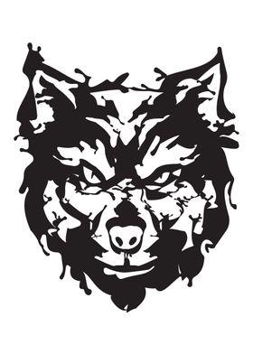 Wolf Gangster Ink blots