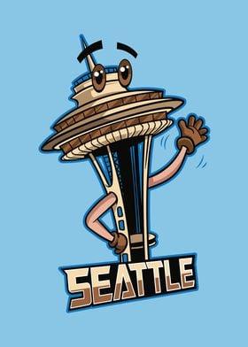 Seattle City Icon Badge