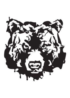 Gangster Bear Ink blots