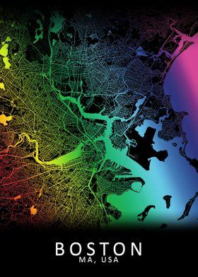 Boston Rainbow City Map