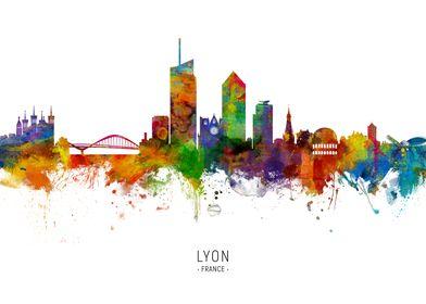Lyon France Skyline