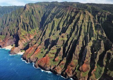 Napili coast from the air