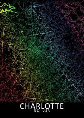 Charlotte Rainbow CIty Map