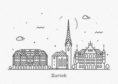 Zurich City Skyline