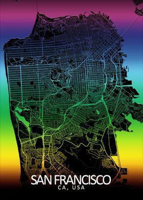 San Francisco Rainbow Map