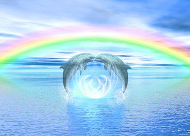 Dolphins Rainbow Healing