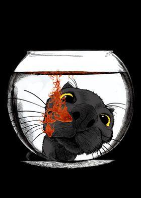 Color Drop Cat