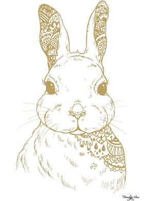 Golden Hare Boho Sketch