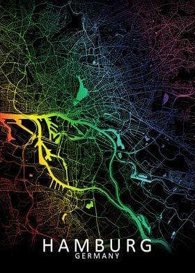 Hamburg  Rainbow City Map