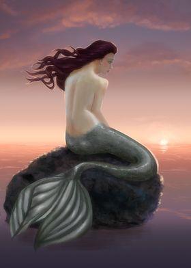 Mermaid and Sunset