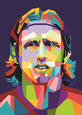 Colourfull Luka Modric