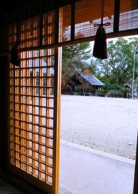 Japan temple view