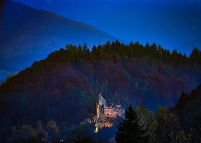 Bran castle in the evening
