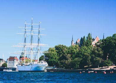 Boat in Stockholm