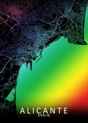 Alicante Rainbow City Map